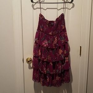 AE strapless dress size medium